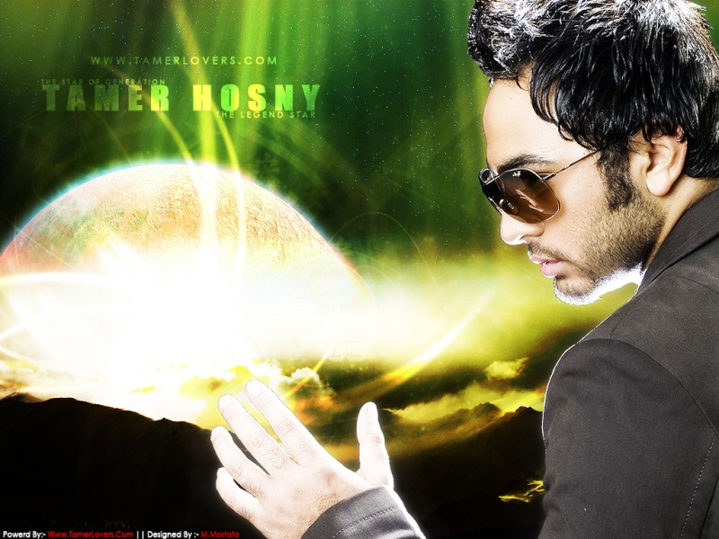 NEW    POSTER   2   SUPER  STAR    TAMER  HOSNY 512