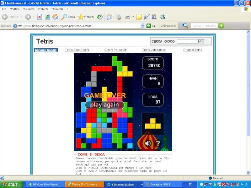 sfida a tetris Tetris11