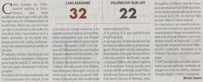 ASC / VILLENEUVE : page DDM du 11.03 Numari11