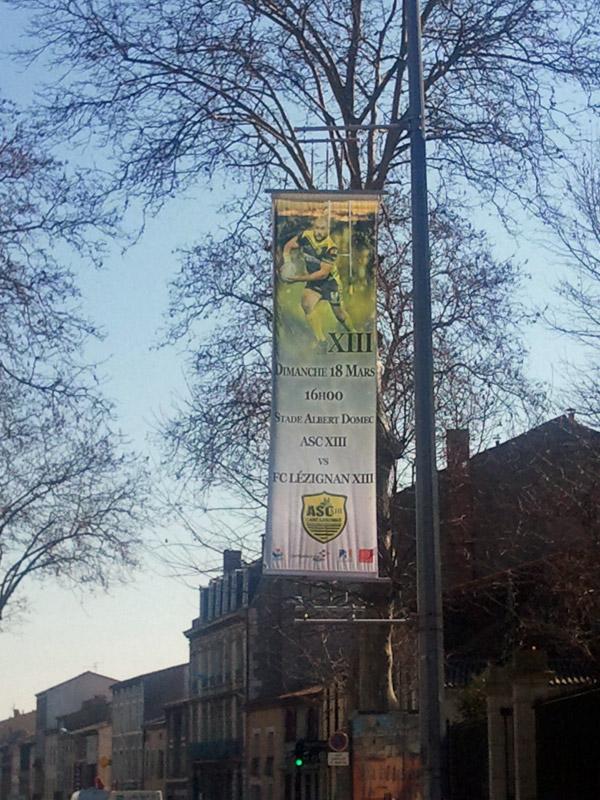 Annonce du Derby sur les boulevards en ville. Orifla10