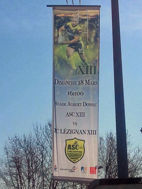 Annonce du Derby sur les boulevards en ville. Orifla11
