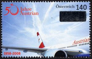 AUA: Briefmarke zum 50er und Showdown bei der Hauptversammlung 80a10
