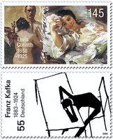 Neue Briefmarken würdigen Corinth und Kafka Bildan12
