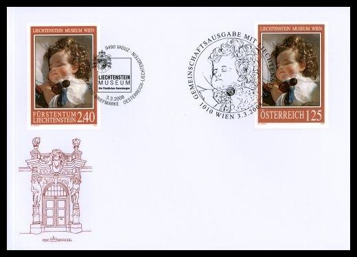 Liechtenstein - Gemeinschaftsmarke Österreich-Liechtenstein Brief10