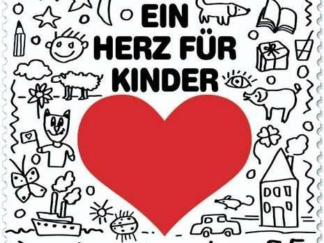 """Das ist die Briefmarke für """"Ein Herz für Kinder"""" Briefm11"""