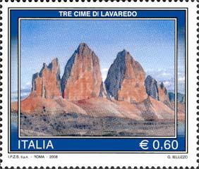 Neue Briefmarke mit den Drei Zinnen Drei_z11