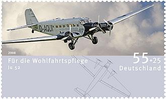 Keineswegs nur für Luftpost: Die neuen Wohlfahrtsmarken zeigen Luftfahrzeuge News0810
