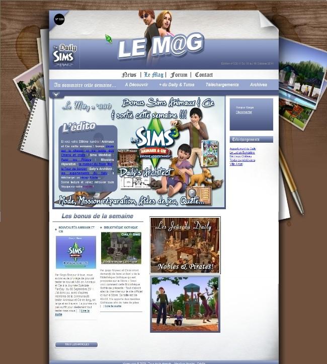 Daily Sims, Sims 2 & 3 Mag33010