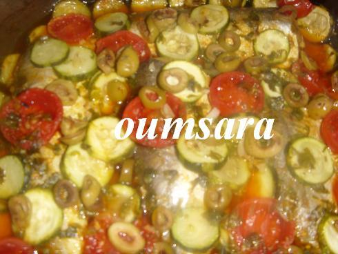 Merlans cuits au four à la marocaine aux courgettes et tomates 1010