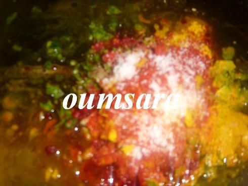 Merlans cuits au four à la marocaine aux courgettes et tomates 110
