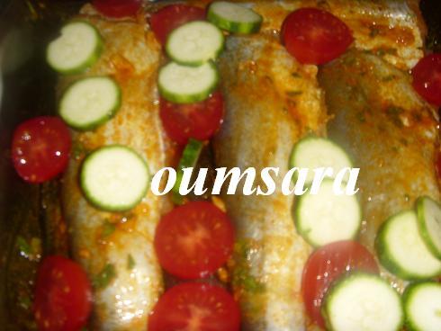 Merlans cuits au four à la marocaine aux courgettes et tomates 710