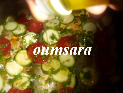 Merlans cuits au four à la marocaine aux courgettes et tomates 810