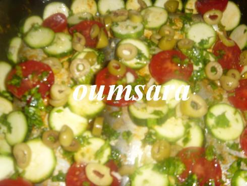 Merlans cuits au four à la marocaine aux courgettes et tomates 910