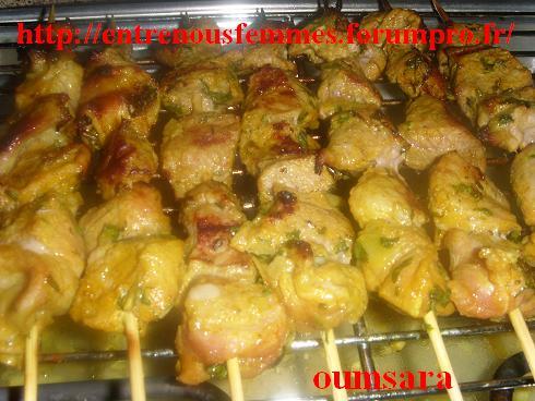 Brochettes de veau à la marocaine Broche10