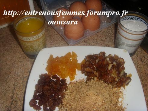 Maskouta ou Meskouta aux dattes et abricots /Gâteau Marocain aux dattes,  noisettes et abricots...... Cake110