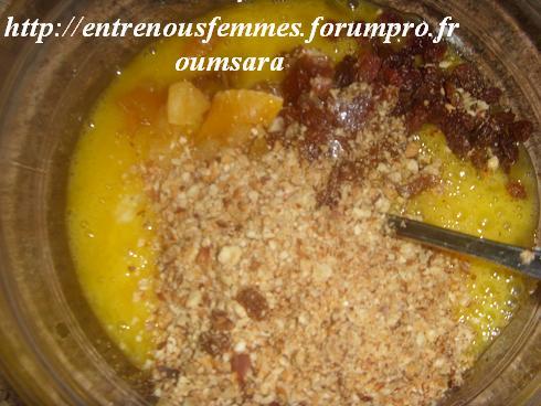 Maskouta ou Meskouta aux dattes et abricots /Gâteau Marocain aux dattes,  noisettes et abricots...... Cake210
