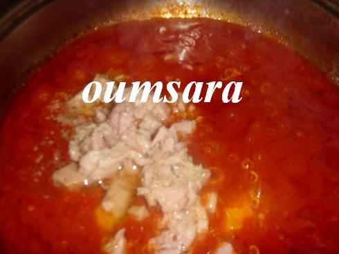 Sauce de tomate au thon S510
