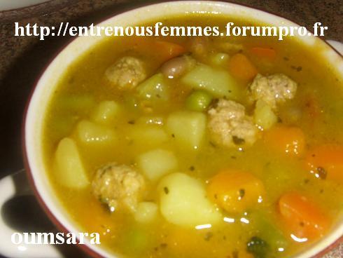 Sobba ou Soupe aux légumes et boulettes de viande Soupe10