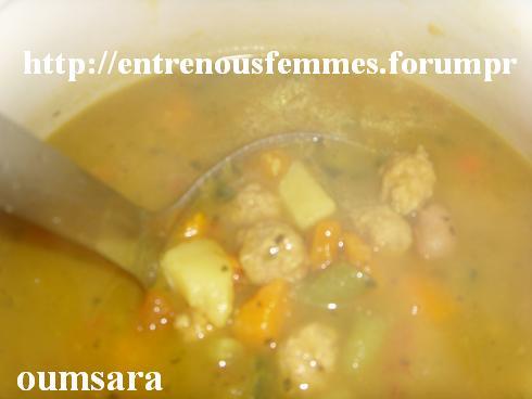 Sobba ou Soupe aux légumes et boulettes de viande Soupe110