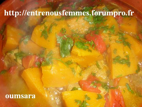 Tajine marocain de veau à la citrouille Tajine14