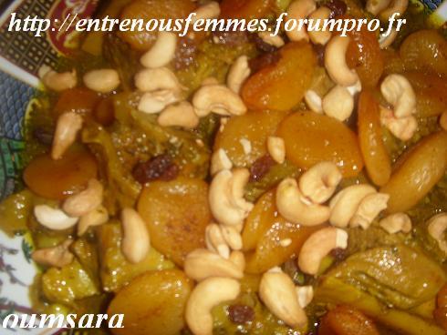 Dwaz ou L'mar9a à la marocaine aux abricots secs et noix d'acajou Veau10