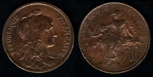 Francia, 10 céntimos, 1911 69-84310