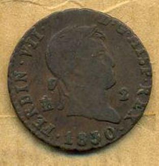 2 Maravedis de Fernando VII (Segovia, 1830) 69e0_110