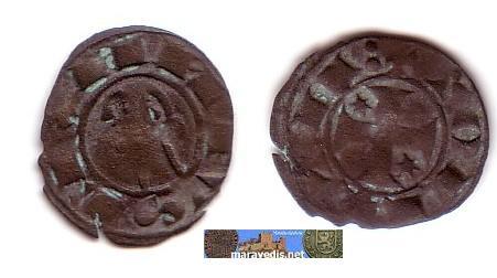 Dinero de Alfonso VIII (Toledo, 1158 – 1214) Alfons10