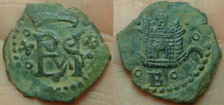 8 Maravedís de Felipe III-IV (Granada, 1603–1626) Blanca10