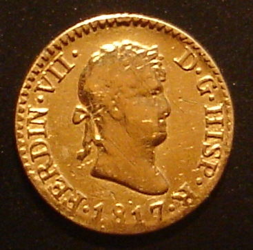 1/2 Escudo de Fernando VII (Madrid, 1817) Dsc04213
