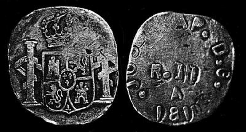 Extraña moneda falsa colonial en Chile. Image710