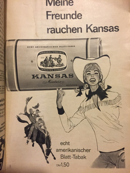 "Old German ad for ""Kansas Mixture"" D9a5b810"