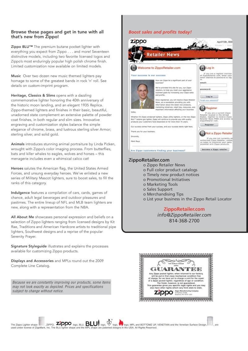 Catalogue ZIPPO 2009 Complete line (version américaine) 111