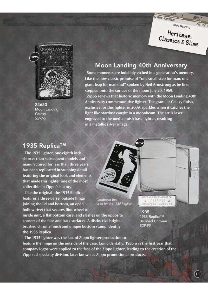 Catalogue ZIPPO 2009 Complete line (version américaine) 1211