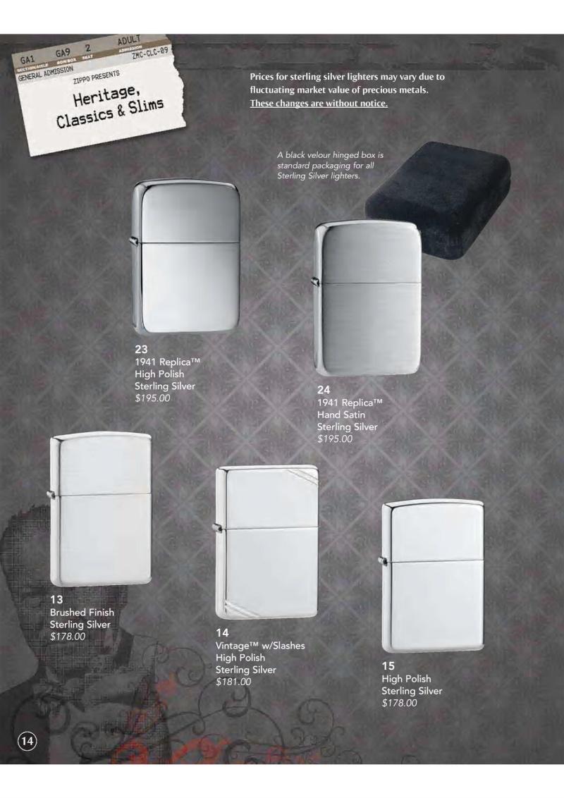 Catalogue ZIPPO 2009 Complete line (version américaine) 1511