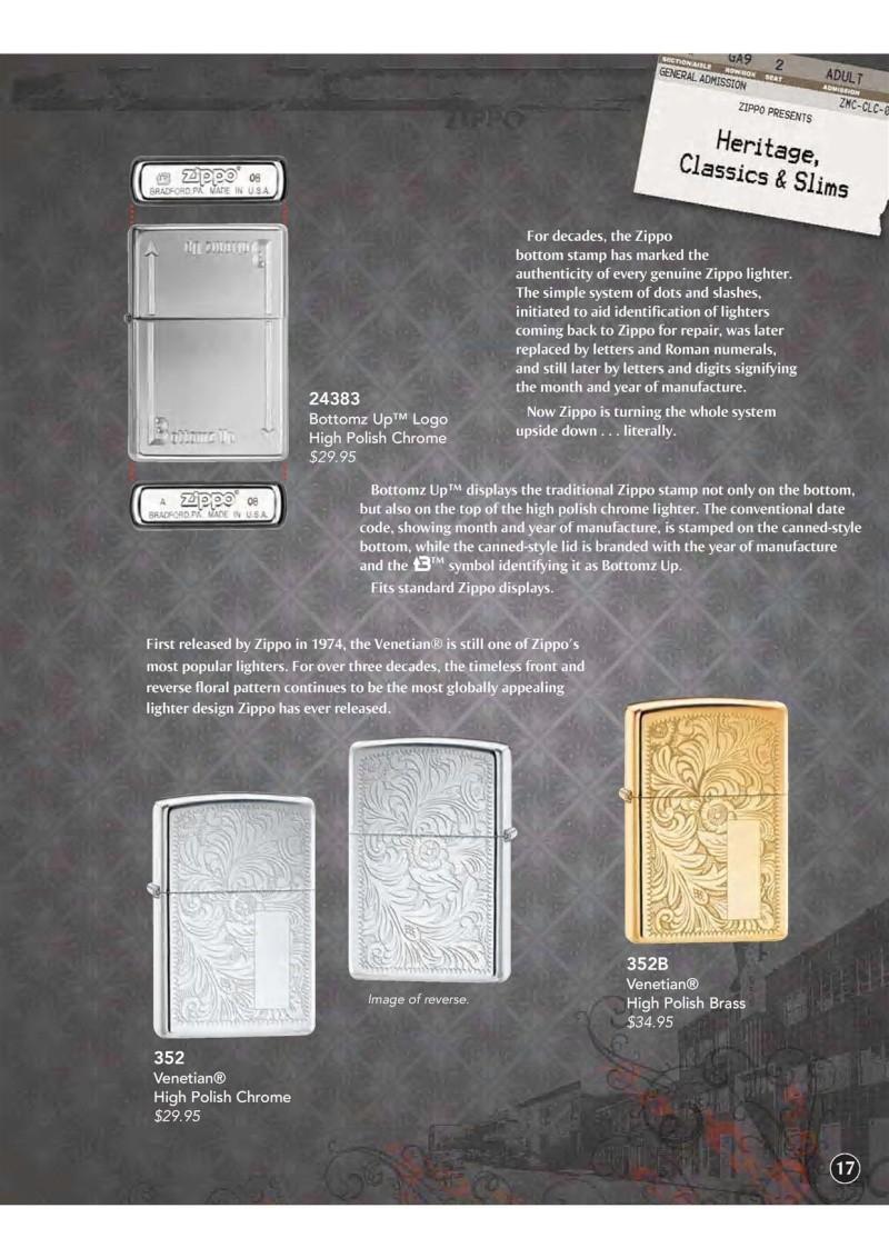 Catalogue ZIPPO 2009 Complete line (version américaine) 1812