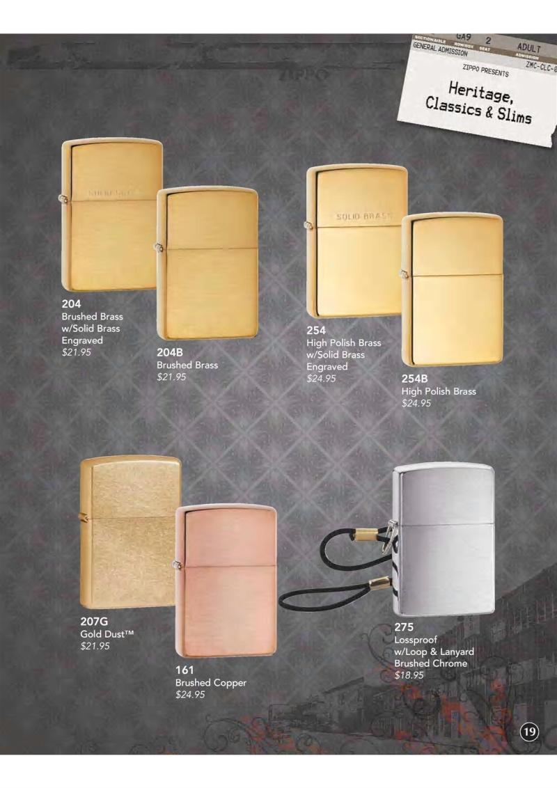 Catalogue ZIPPO 2009 Complete line (version américaine) 2010