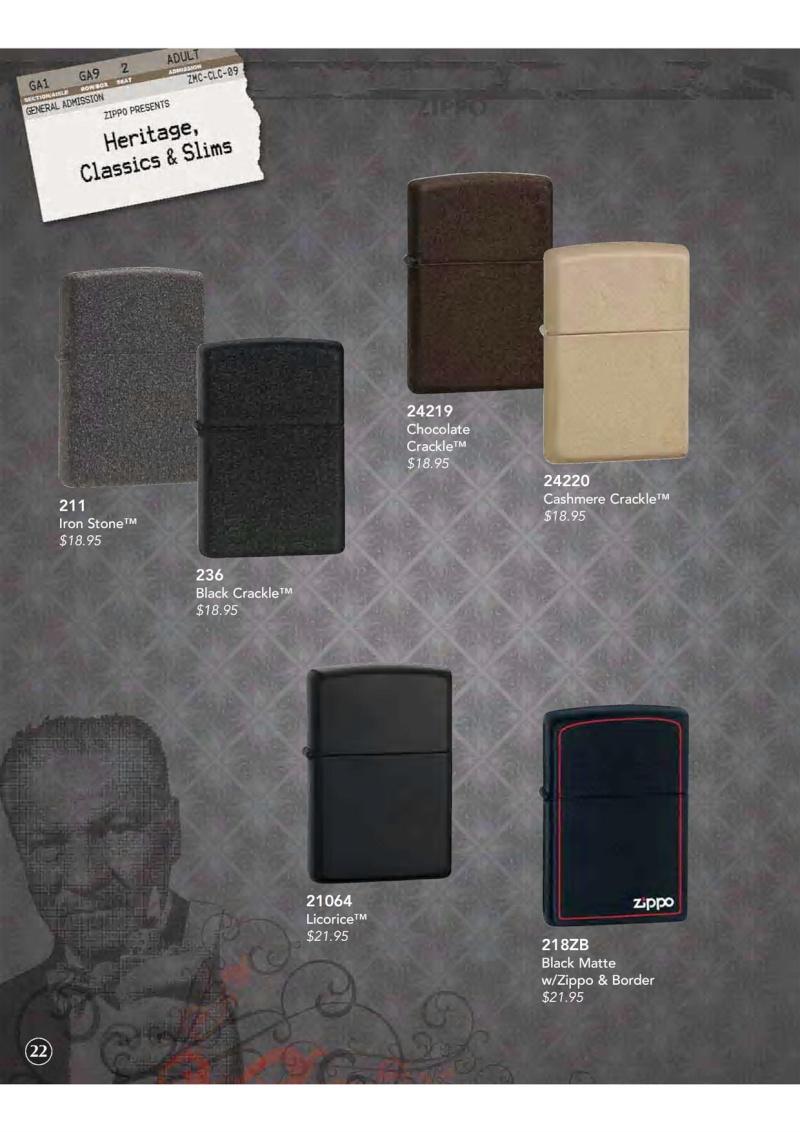 Catalogue ZIPPO 2009 Complete line (version américaine) 2311