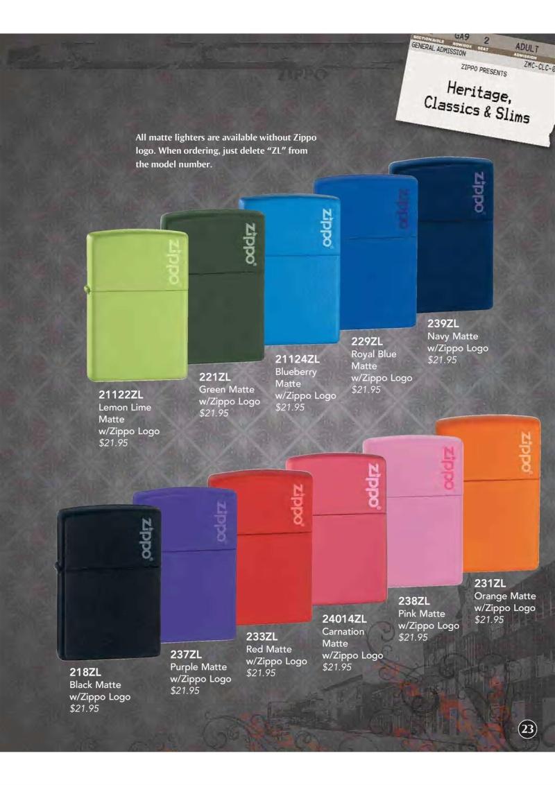 Catalogue ZIPPO 2009 Complete line (version américaine) 2411