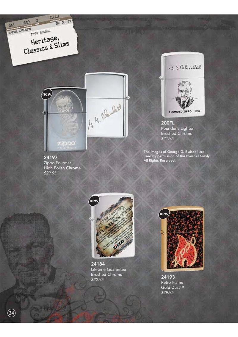 Catalogue ZIPPO 2009 Complete line (version américaine) 2510