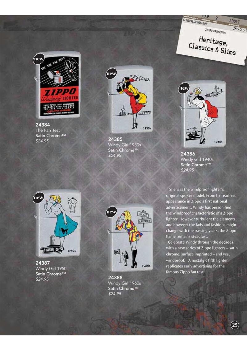 Catalogue ZIPPO 2009 Complete line (version américaine) 2611