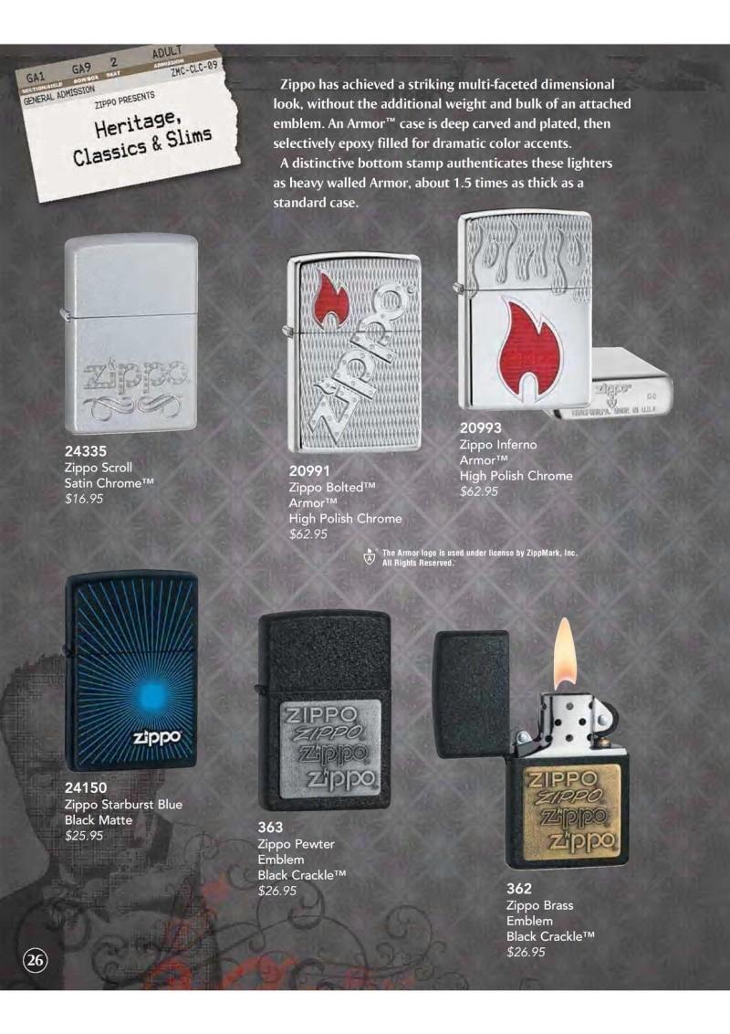Catalogue ZIPPO 2009 Complete line (version américaine) 2710