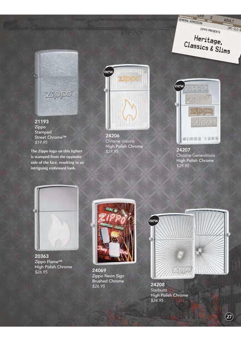 Catalogue ZIPPO 2009 Complete line (version américaine) 2811