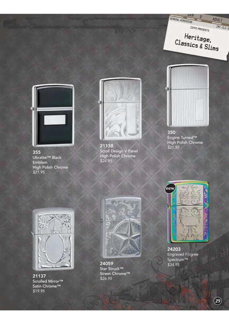 Catalogue ZIPPO 2009 Complete line (version américaine) 3010