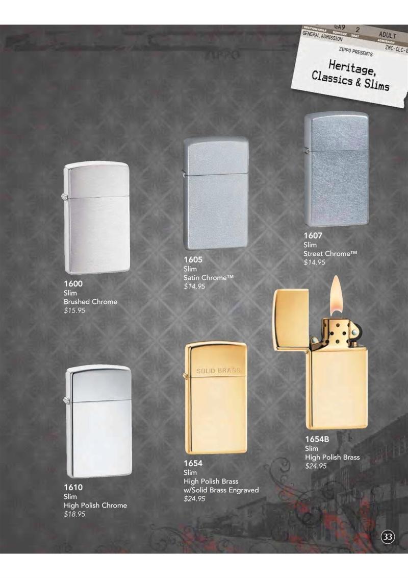 Catalogue ZIPPO 2009 Complete line (version américaine) 3410
