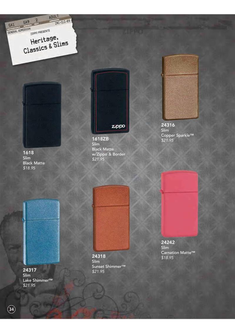 Catalogue ZIPPO 2009 Complete line (version américaine) 3510