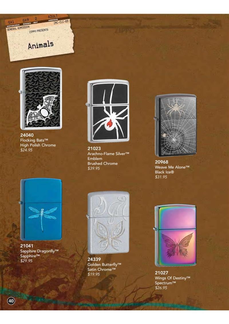Catalogue ZIPPO 2009 Complete line (version américaine) 4110