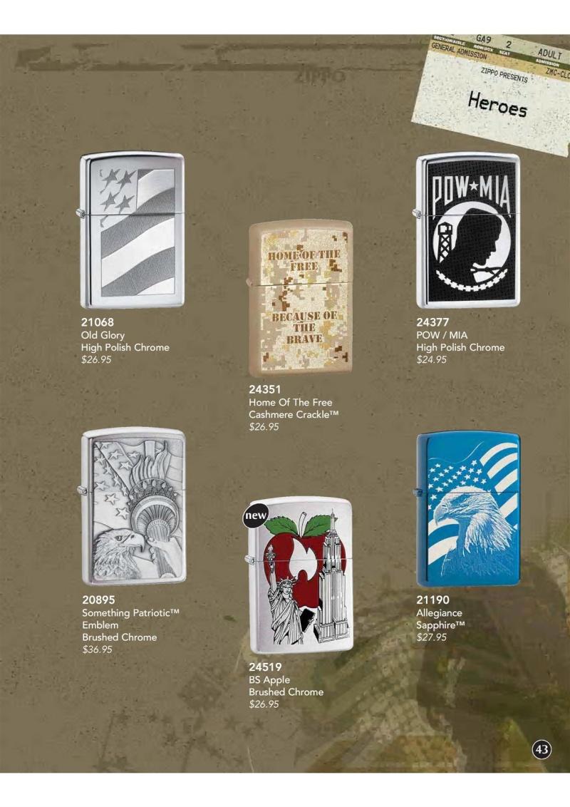 Catalogue ZIPPO 2009 Complete line (version américaine) 4410