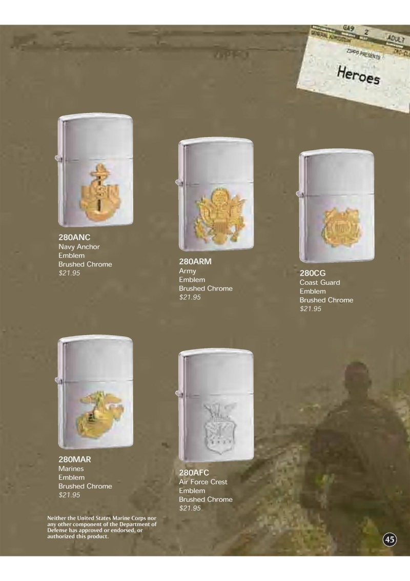 Catalogue ZIPPO 2009 Complete line (version américaine) 4510