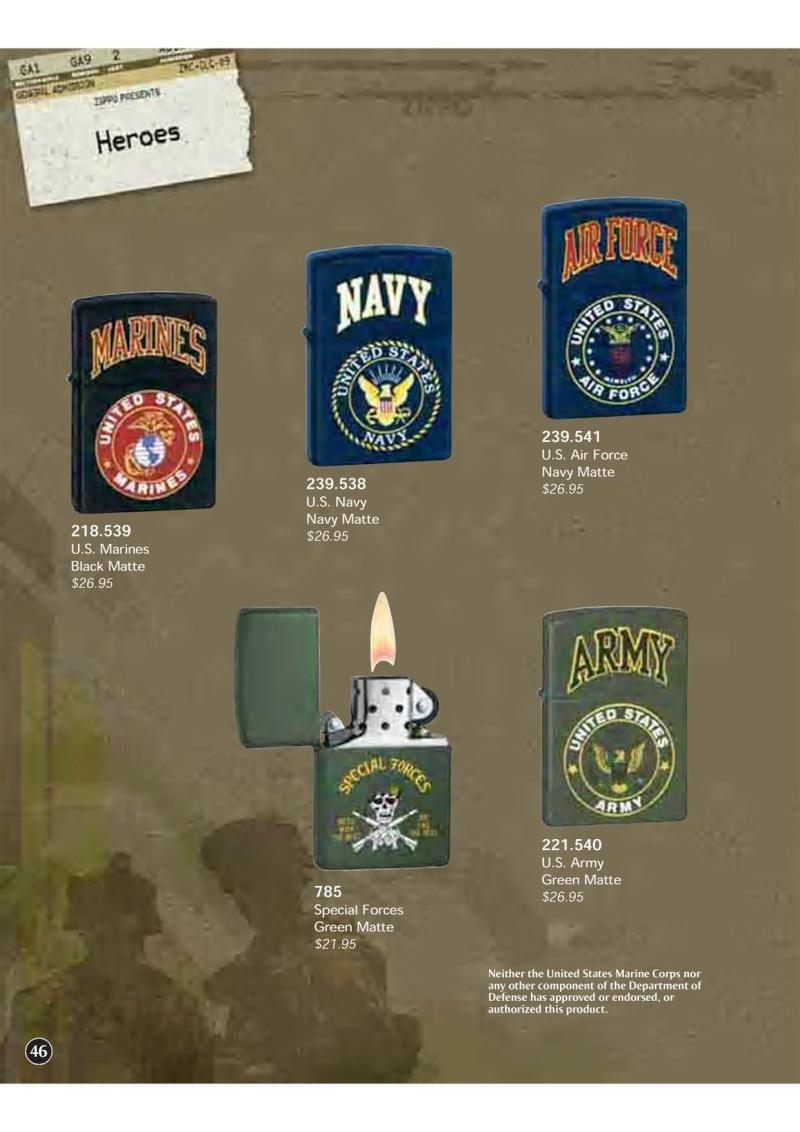 Catalogue ZIPPO 2009 Complete line (version américaine) 4610